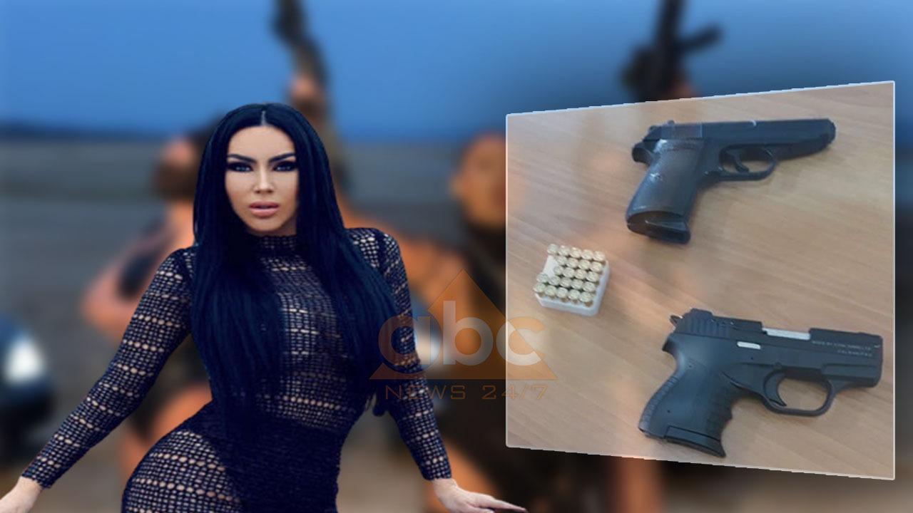 FOTO/ Fjolla Morina arrestohet me dy pistoleta në Kukës