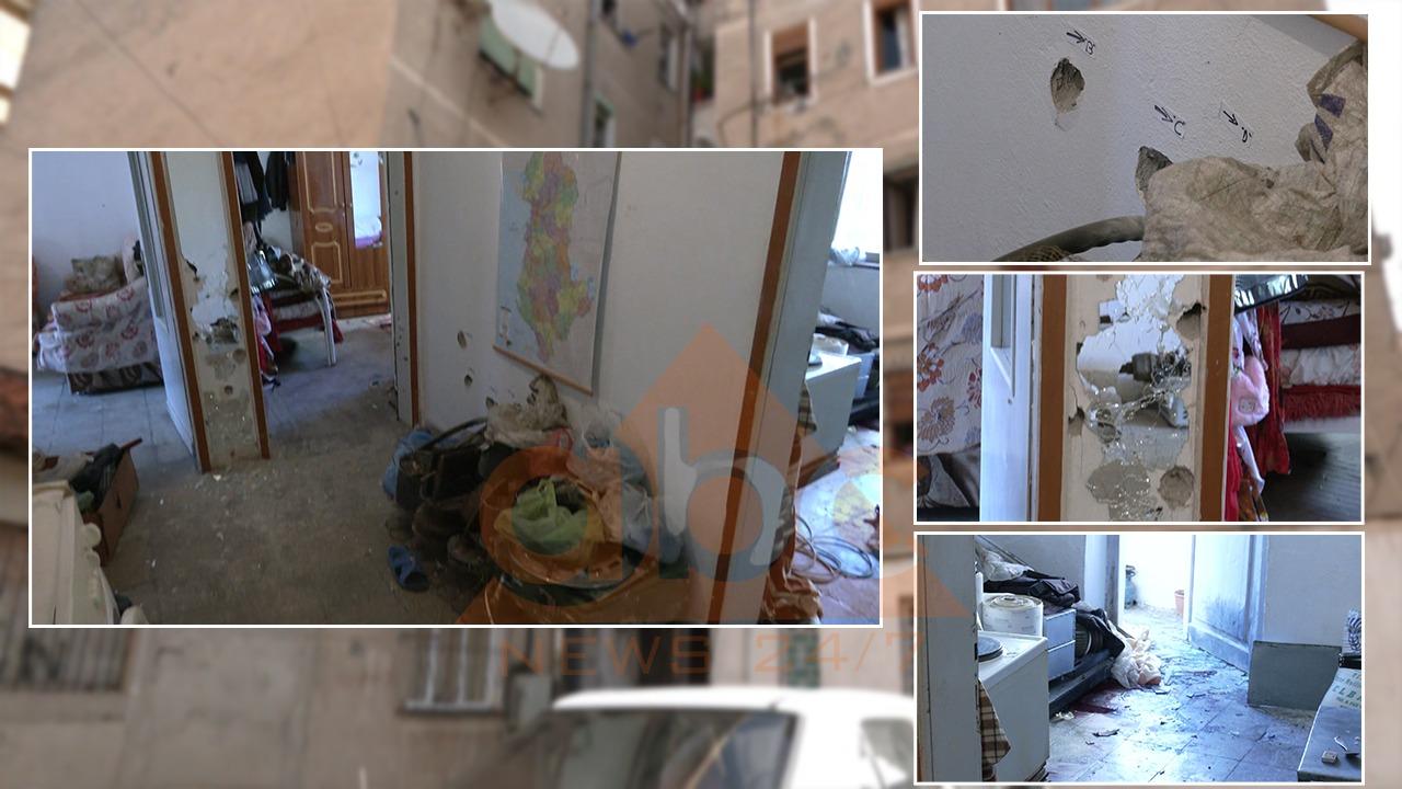 VIDEO/ Shenja plumbash kudo, brenda shtëpisë ku Lefter Zhidru luftoi me policinë
