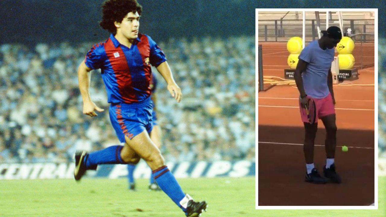 VIDEO/ Humbja nuk e dëshpëron, Nadal shfaqet si legjenda Maradona