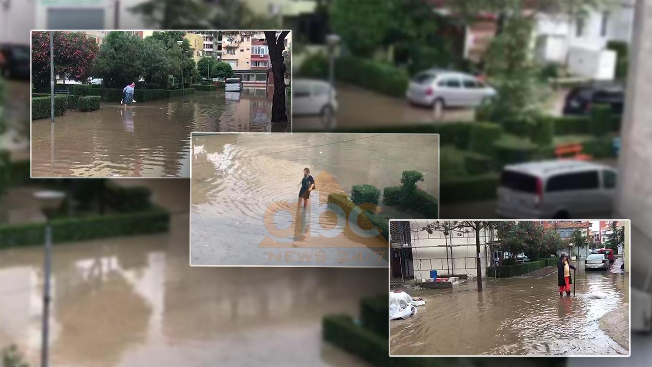 Reshjet e shiut shkaktojnë përmbytje në Lezhë, vështirësohet qarkullimi