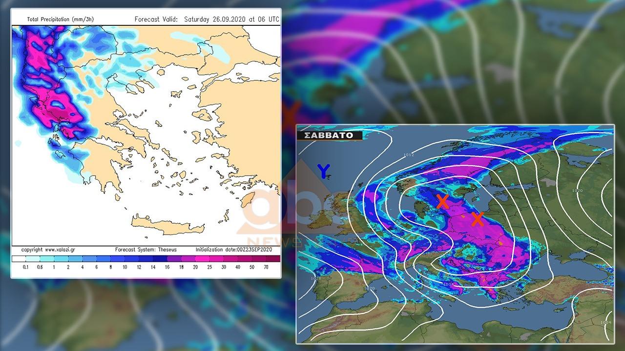 FOTO/ Meteorologu grek jep alarmin: Të shtunën kulmi, çfarë e pret Shqipërinë