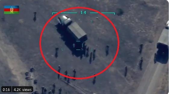 Droni po i vëzhgonte pastaj i qëlloi: Dalin pamjet e sulmit ndaj ushtarëve armenë