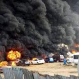 FOTO/ Shpërthen cisterna me benzinë në Nigeri, të paktën 23 viktima
