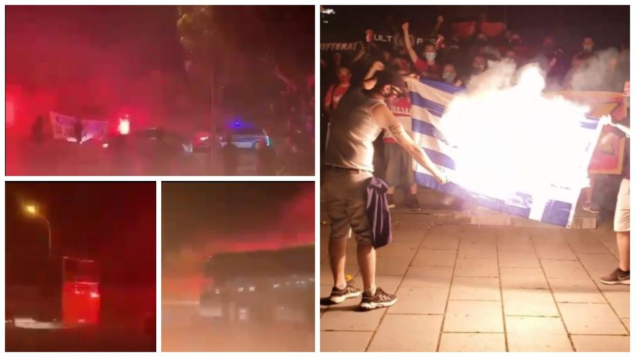 VIDEO/ U dogjën flamurin grek, në Qipro presin Yllin e Kuq me thirrje kundër Kosovës