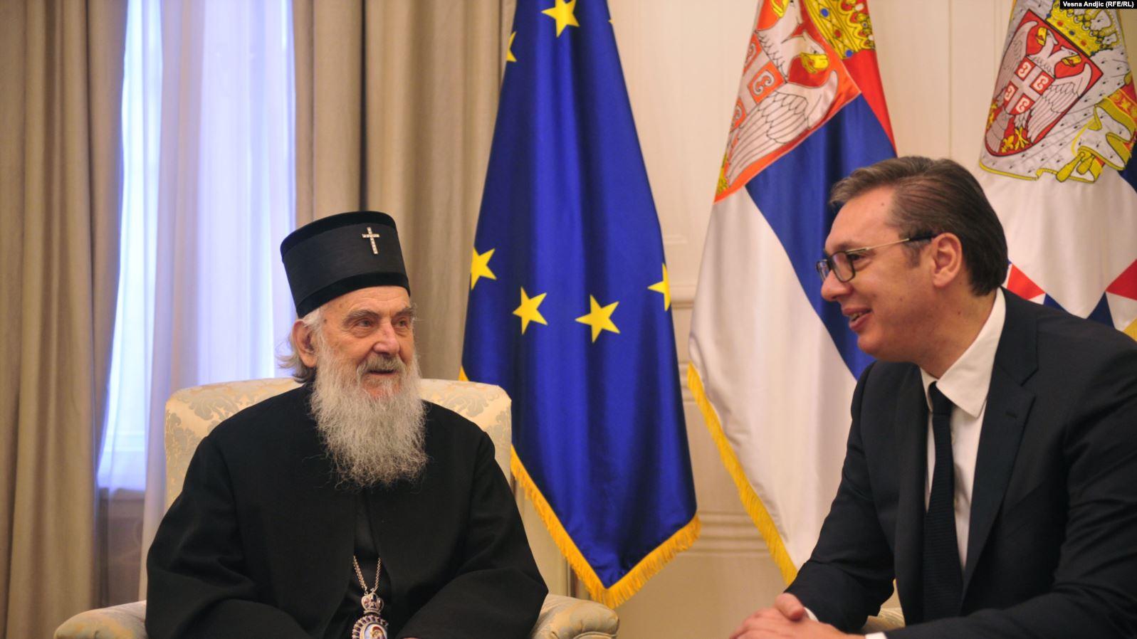 Vuçiç jep llogari para patriarkut Irinej për paktin me Kosovën