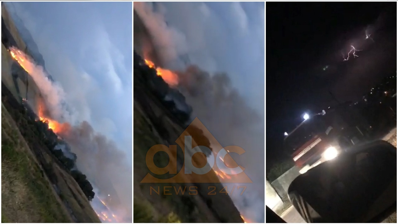 Zjarri kërcënon periferinë e Shijakut, zjarrfikësit të ndihmuar nga shiu e vënë në kontroll