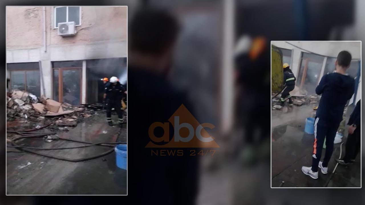 Zjarr në fabrikën e çantave të kartonit në Gjirokastër, evakuohen punonjësit