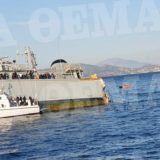 FOTO/ Incident i rëndë në Egje, anija ushtarake greke ndahet në gjysmë