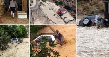 """Uji mori gjithçka përpara, pamje """"apokaliptike"""" nga qyteti grek pas motit të keq"""