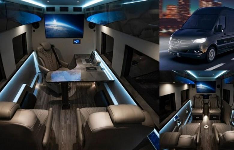 Tryezë ushqimi, frigorifer dhe ulëse prej lëkure, del në shitje furgoni Inkas Mercedes Sprinter