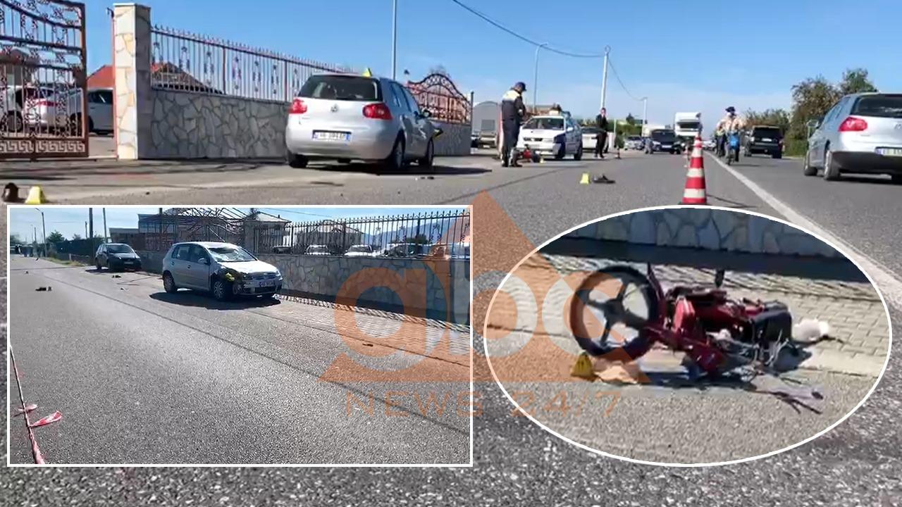 Përplaset për vdekje drejtuesi i një motoçiklete në aksin Shkodër-Koplik
