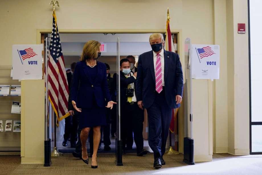 Trump voton në Florida: Një nder i madh
