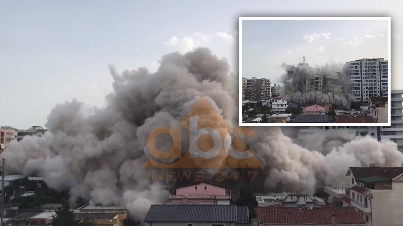 Pas tërmetit Durrësin e trondit tritoli! Pamje ballore, momenti i shembjes së 12-katëshit