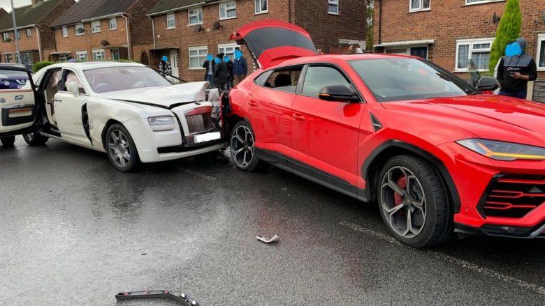 Aksidenti që kushton çerek milion euro, Rolls-Royce përplaset me Lambon