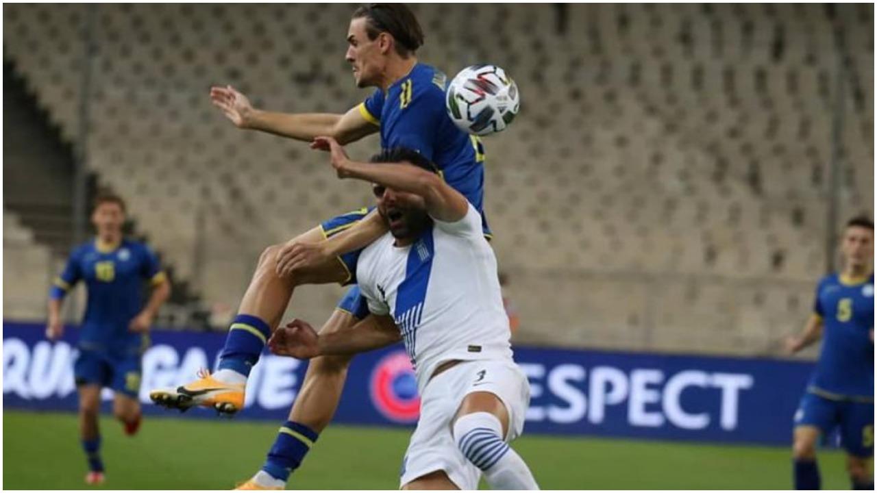 """VIDEO/ """"Heroi"""" Muric pret penallti, Kosova i merr një pikë Greqisë"""