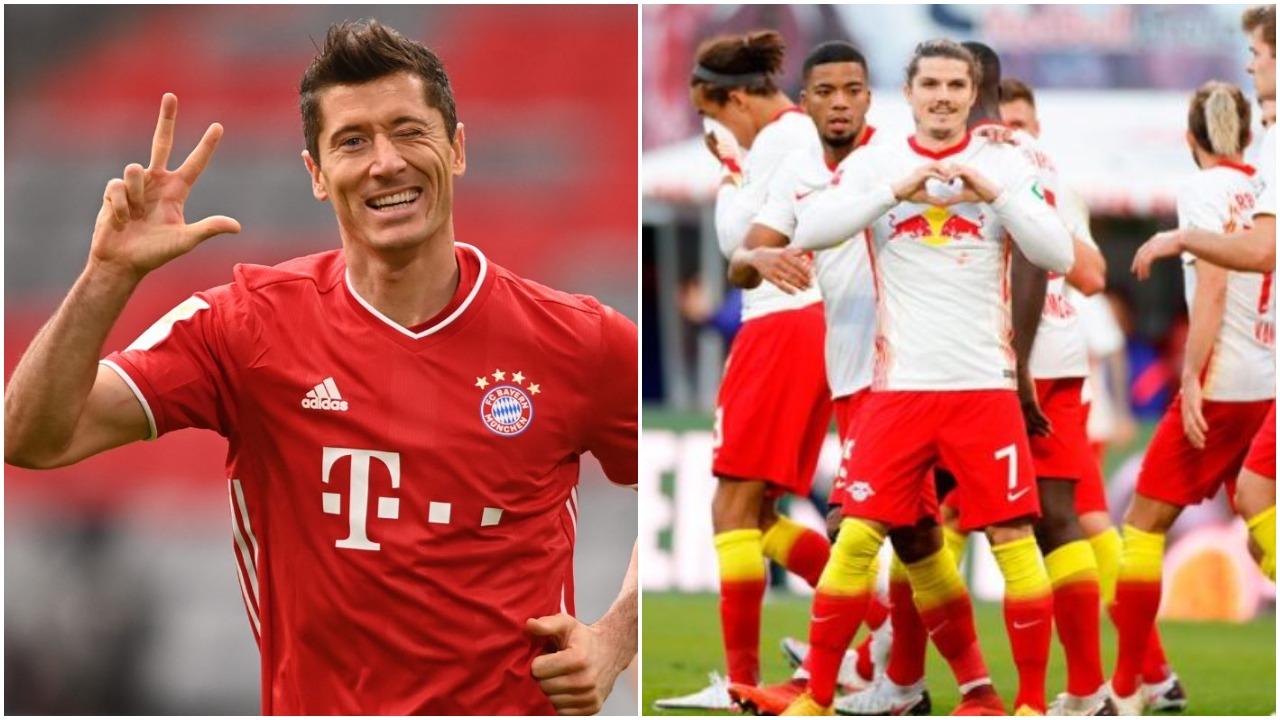 VIDEO/ Super Bayern, Lewandowski i frikshëm. Leipzig nuk e lëshon kreun