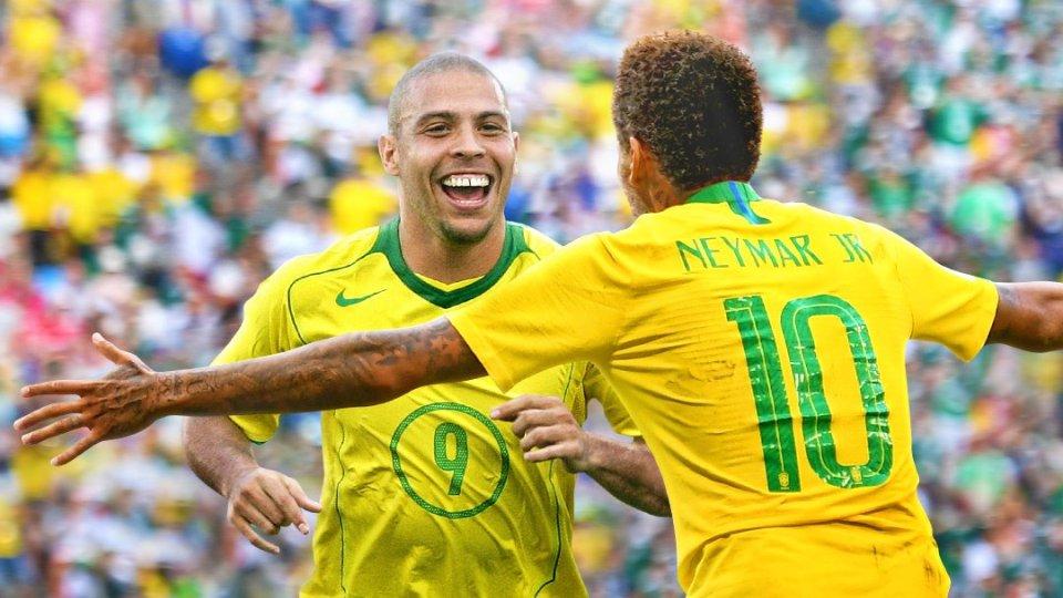 """VIDEO/ Neymar """"fluturon"""" mbi Ronaldon dhe nderon Brazilin"""