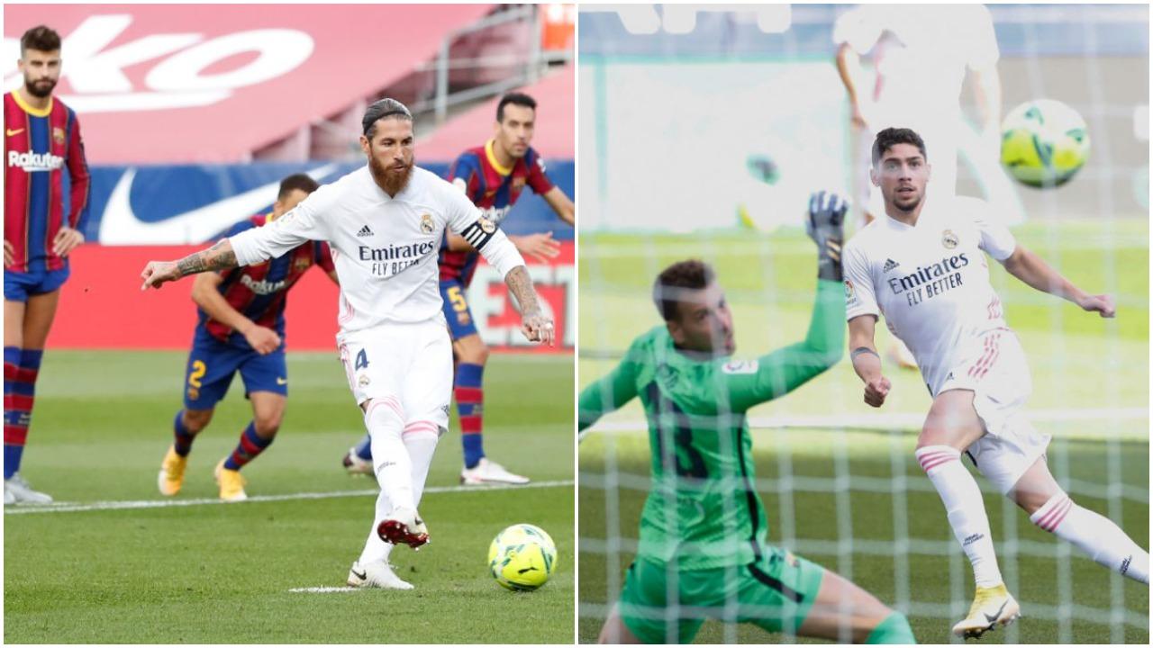 """VIDEO/ Reali zgjohet në momentin e duhur, """"ngjyros"""" El Clasico me të bardha"""