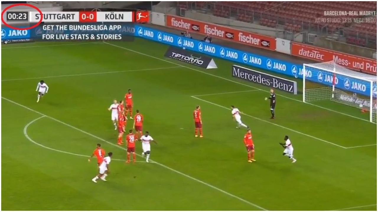 """VIDEO/ 23 sekonda për golin e parë, ndeshja e Bundesligës nis """"zjarr"""""""