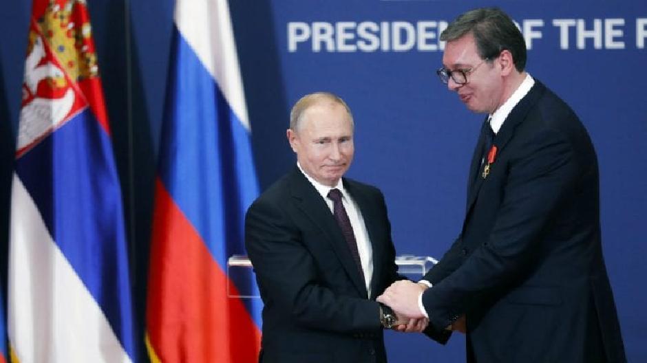 Putin anulon vizitën në Beograd