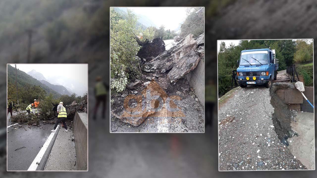 Reshje e dendura të shiut, probleme me qarkullimin në Kukës dhe Tropojë