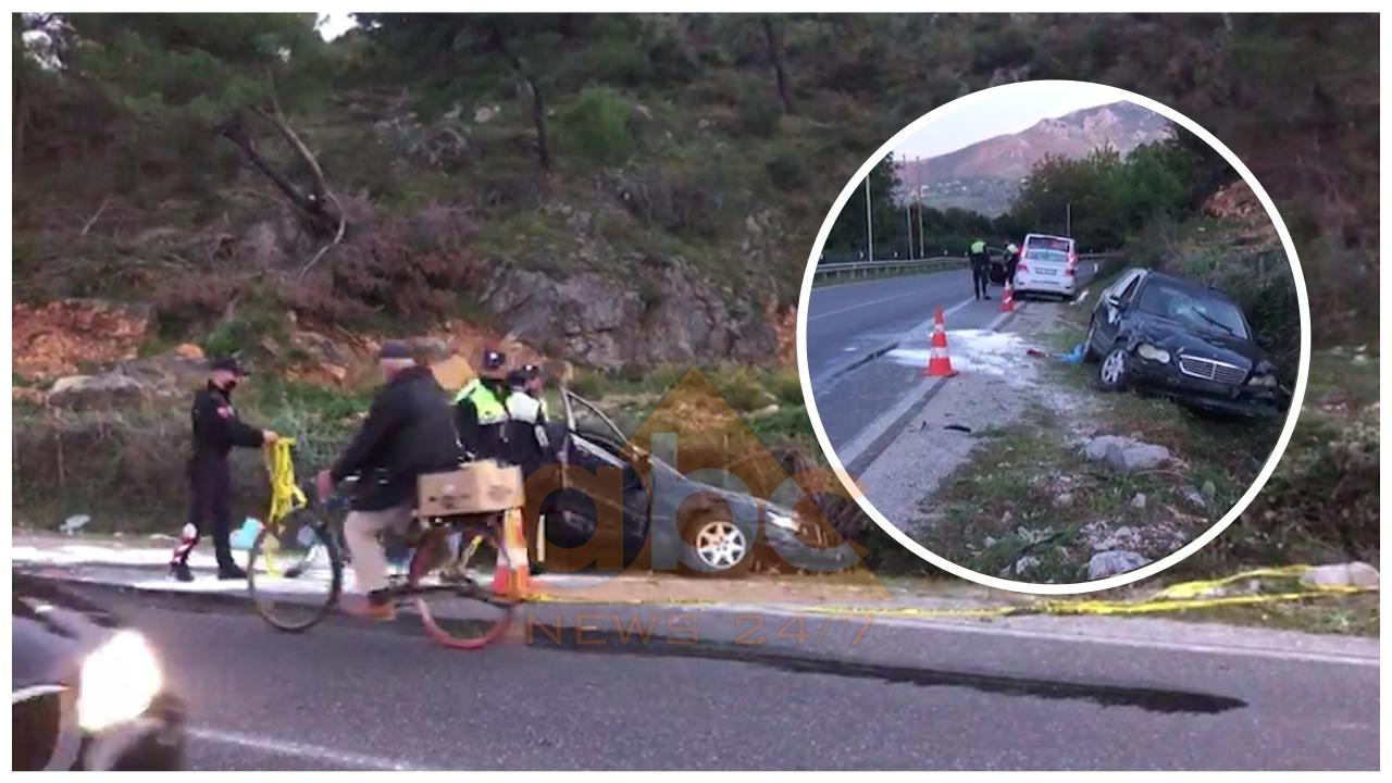 """""""Benz-i"""" doli nga rruga dhe u plagos shoferi, pamjet e aksidentit në Lezhë"""