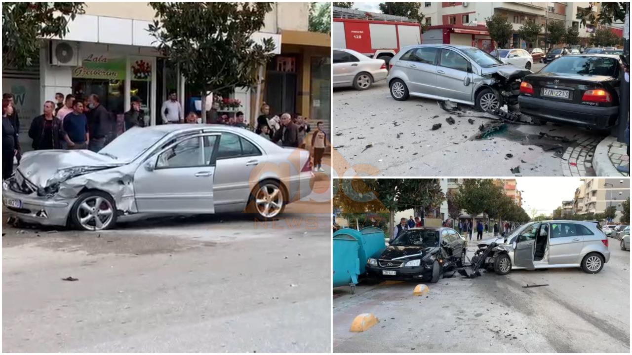 VIDEO/ Aksident i rëndë në Fier, përplasen 3 automjete