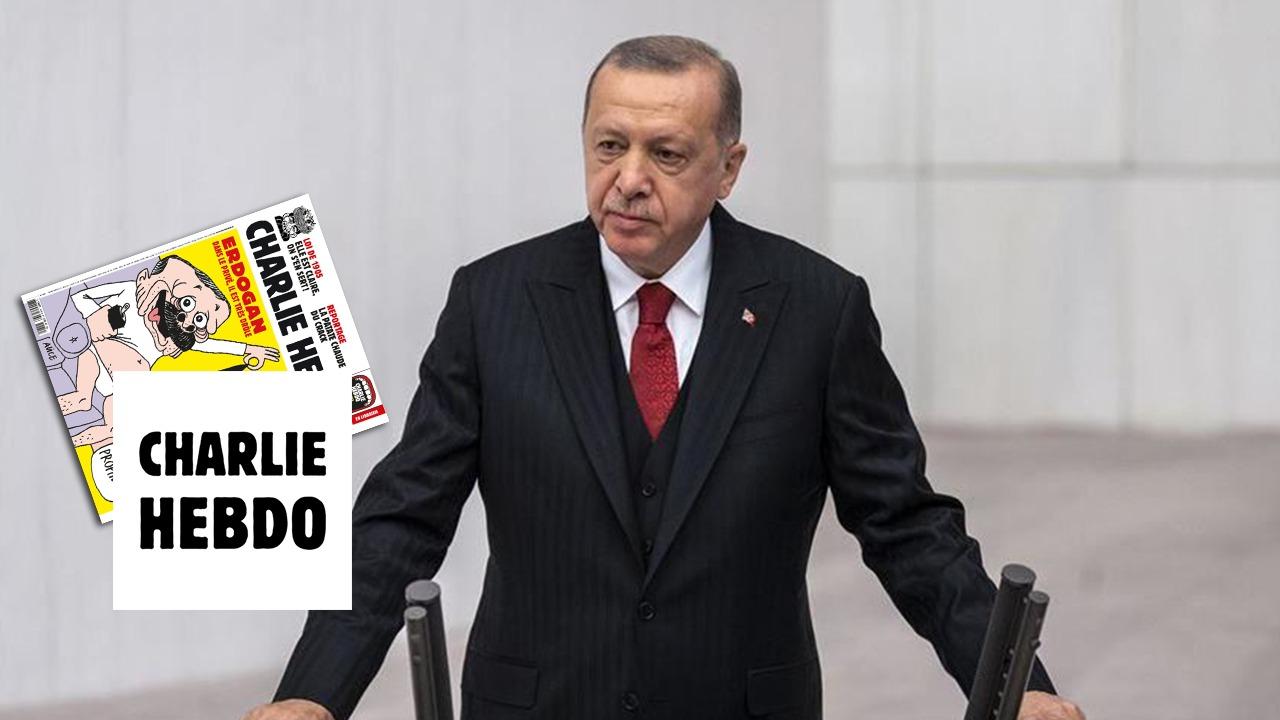 """FOTO/ Revista Charlie Hebdo ironizon presidentin Erdogan, i dedikon karikaturë të """"sikletshme"""""""
