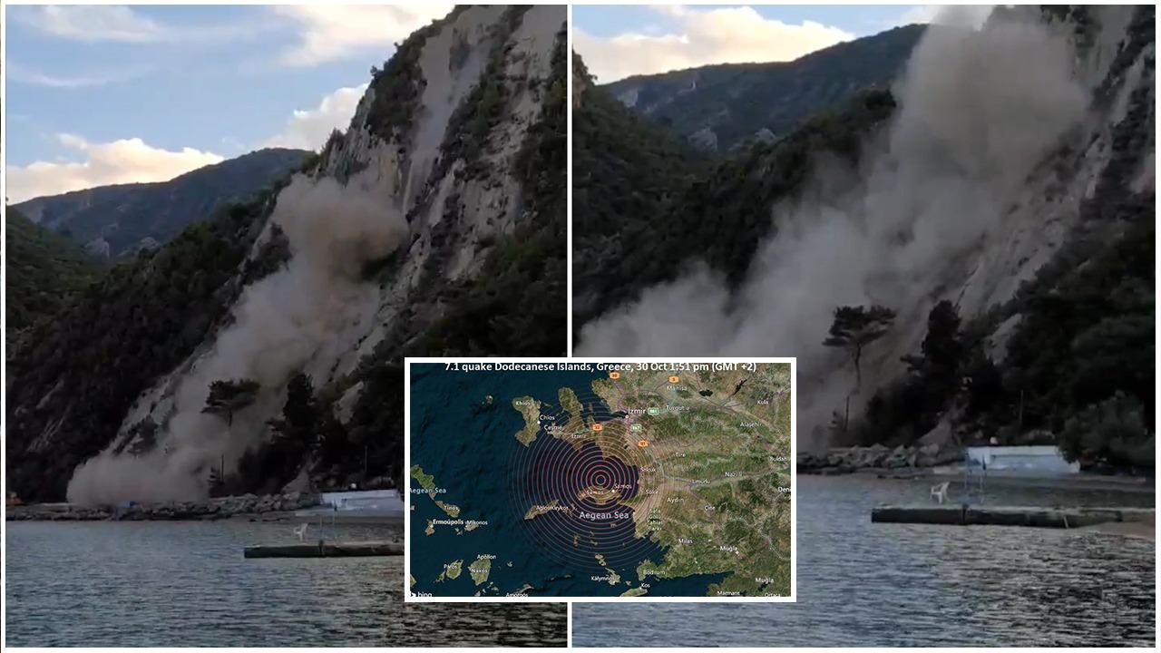 Video nga ishulli grek Samos, rrëshqitje dheu e cunami pas tërmetit shkatërrimtar