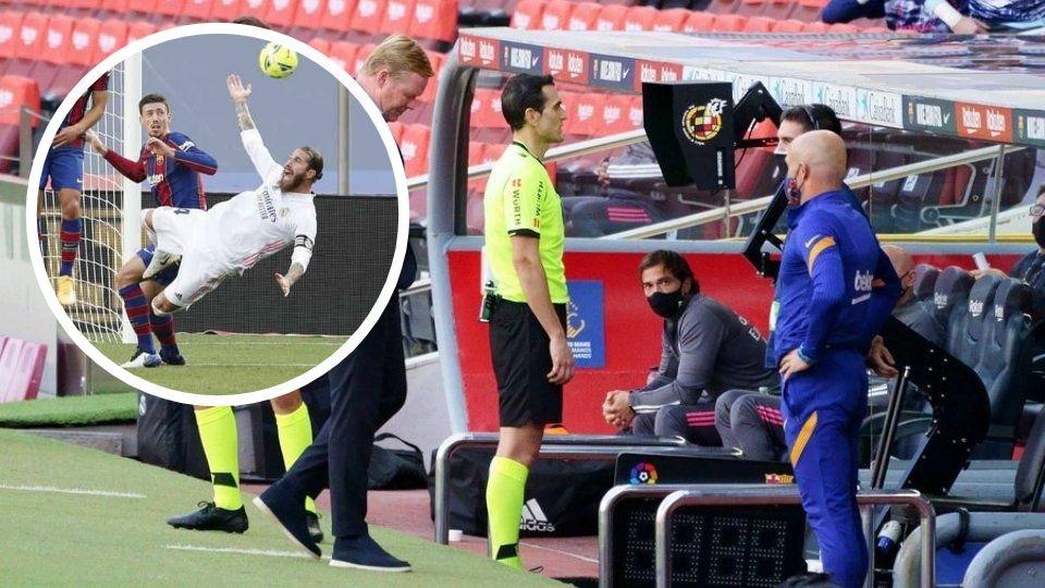 """VIDEO/ """"E shtyu i pari Ramos"""", zbulohet prapaskena e penalltisë në El Clasico"""