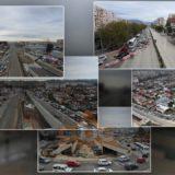 PAMJE ME DRON/ Si po devijohet lëvizja e makinave nga Dogana! Trafik në hyrje të Tiranës