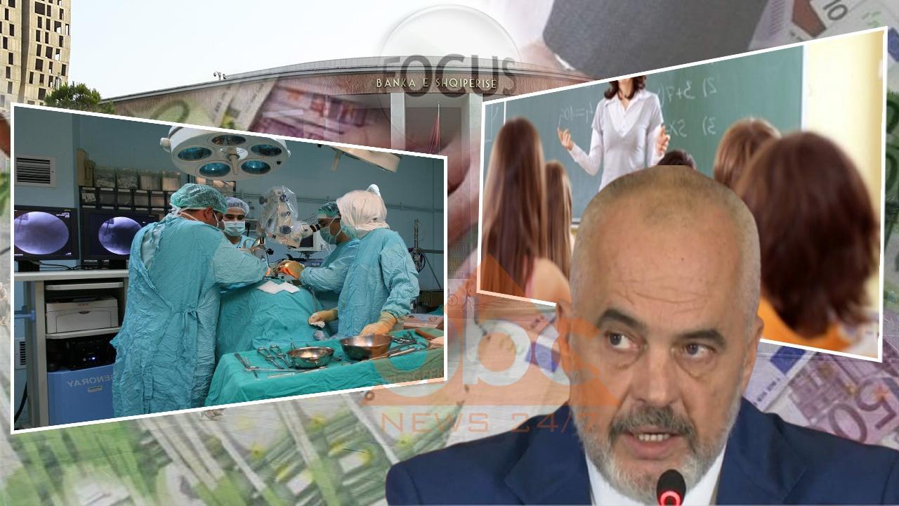 """""""Ekonomia në fokus"""", Rama: Zyrtare, rrisim pagat për mjekët 40 % dhe për arsimtarët 15 %"""
