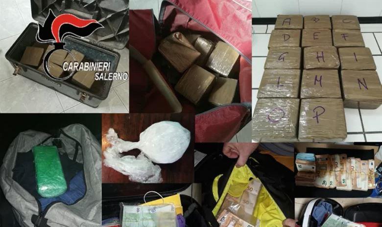 Trafik ndërkombëtar droge në Holandë, Shqipëri, Panama, Brazil, arrestohen 25 persona në Itali