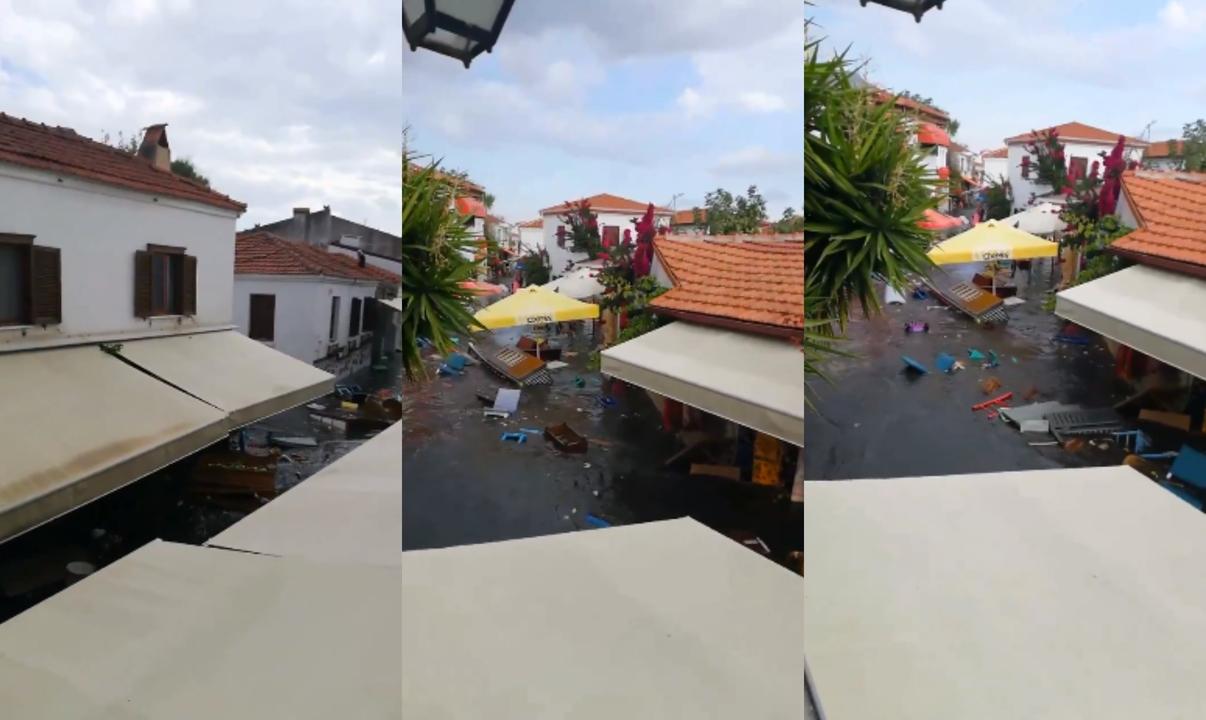 Uji pushton rrugët e banesat, pamje nga cunami pas tërmetit në Turqi