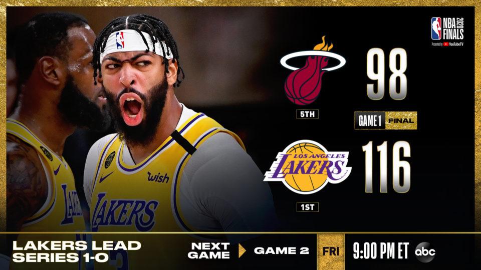 """VIDEO/ Miami Heat """"kafshatë"""" e lehtë për Lakers, Davis-James magjikë"""