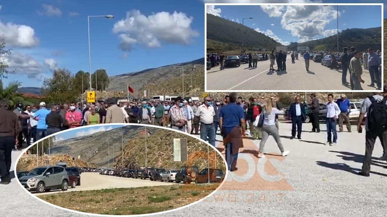 Protestë në Qafë Botë, komuniteti etnik grek kërkon hapjen e pikës doganore