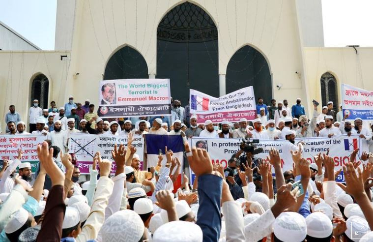 Vrasjet në Francë shkaktojnë protesta kundër Macron ë Bangladesh