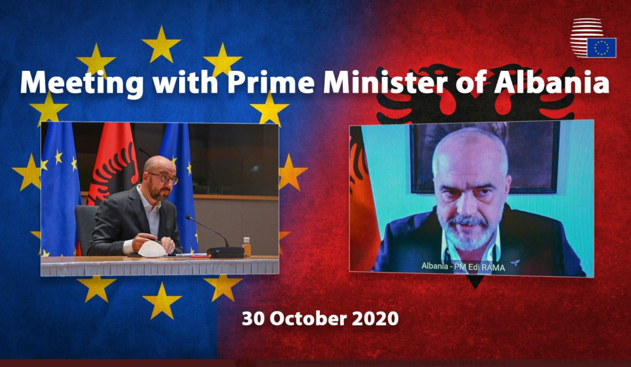 Negociatat dhe Covid-19, Presidenti i Këshillit Europian telefonon Ramën