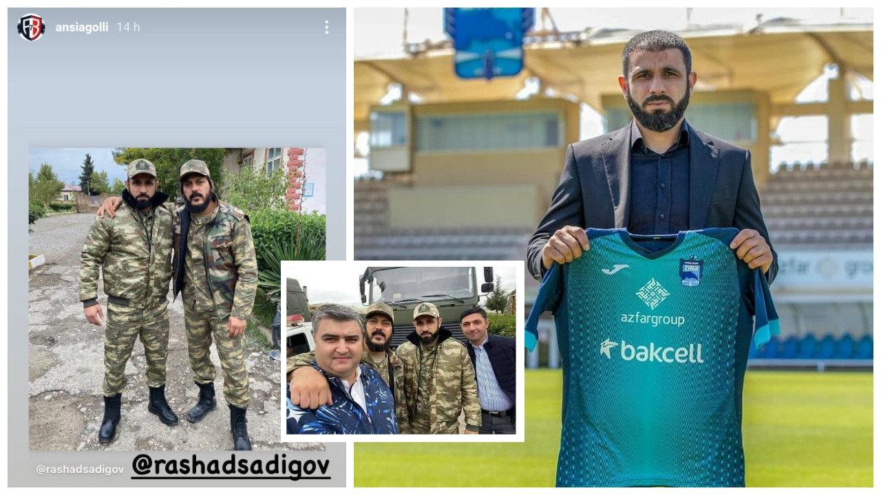 Trajneri i Zira në frontin e luftës me Armeninë, e mbështet edhe Ansi Agolli
