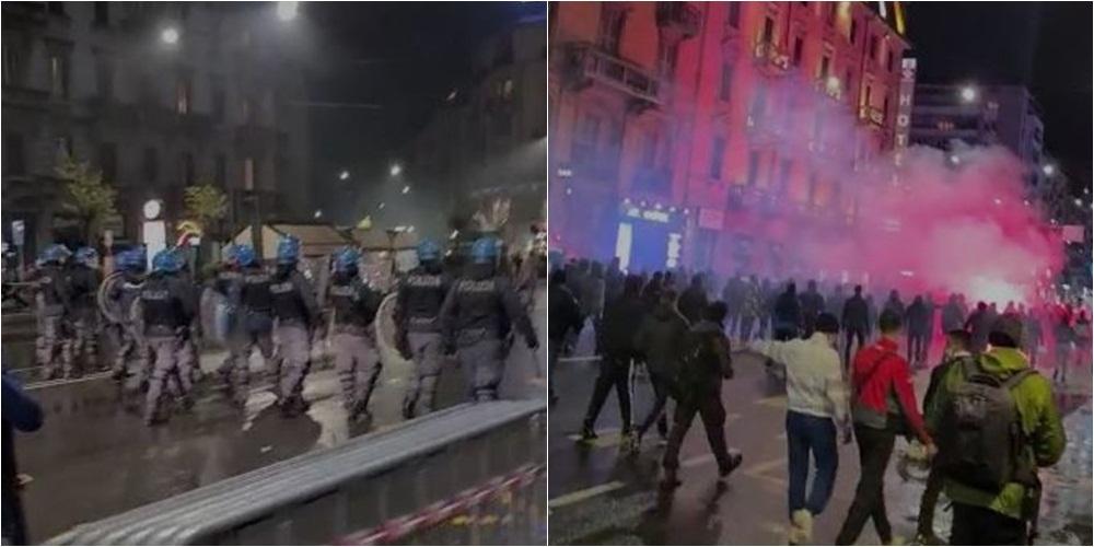 Vijojnë protestat kundër masave anti-Covid në Itali, përplasje mes policisë e turmës në Milano