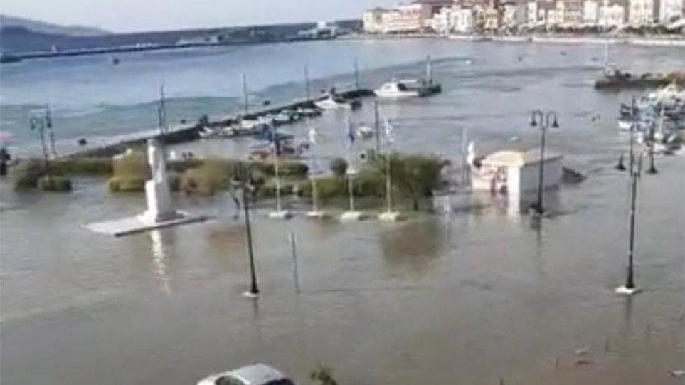 VIDEO/ Tërmeti i fuqishëm shkakton cunami në ishullin grek