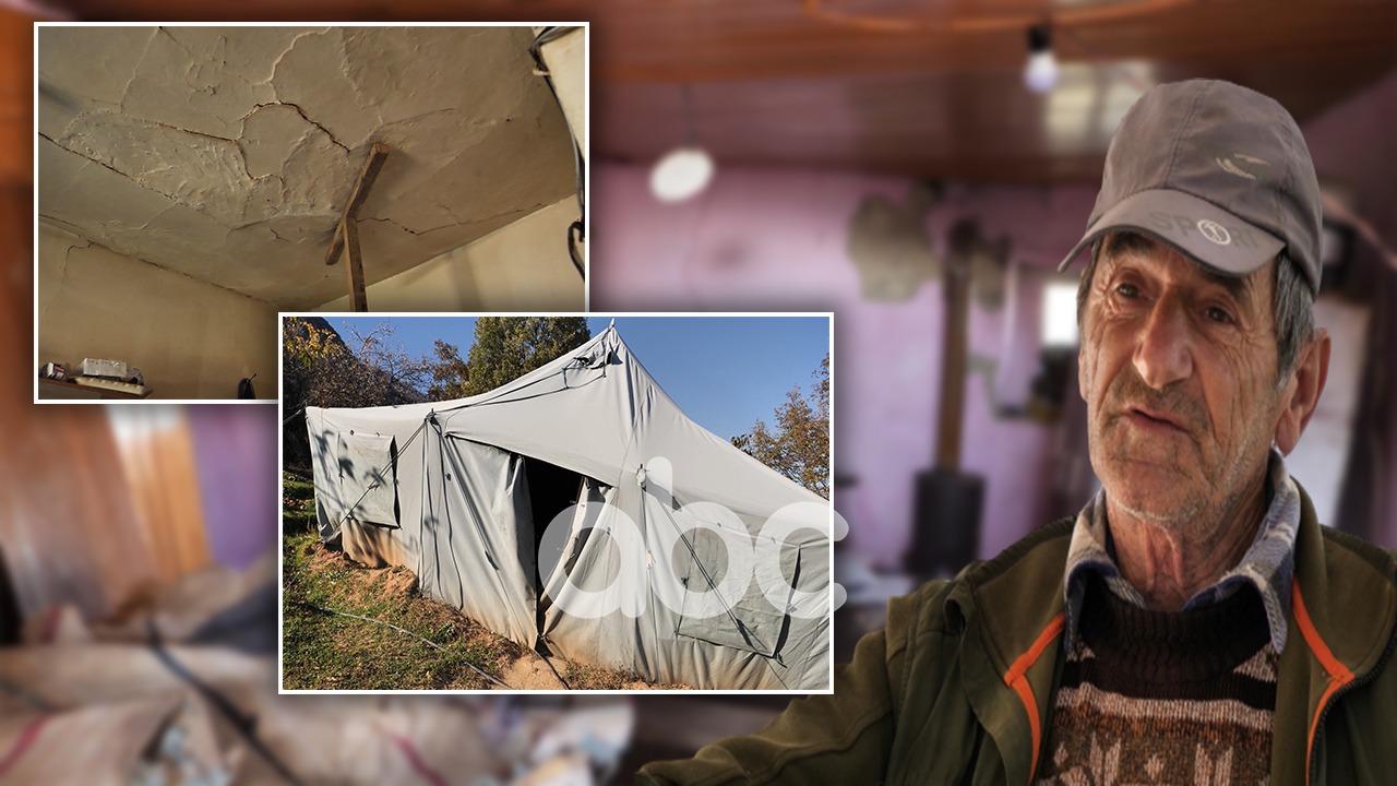 Klosi jashtë rindërtimit, burrë e grua në banesën e rrënuar: Jetojmë me frikë, s'kemi ku të shkojmë