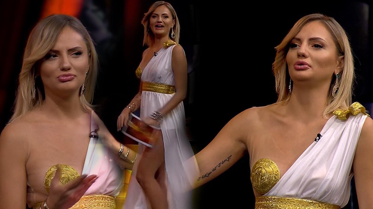 Joshëse dhe si Helena e Trojës, moderatorja e 'Gladiatorit' tërheq vëmendjen e rrjetit me 'look-un'