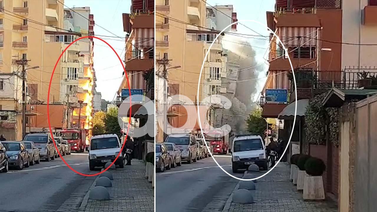 Zjarr dhe tym, hidhet në erë pallati në Durrës: Dëme në ndërtesat përreth