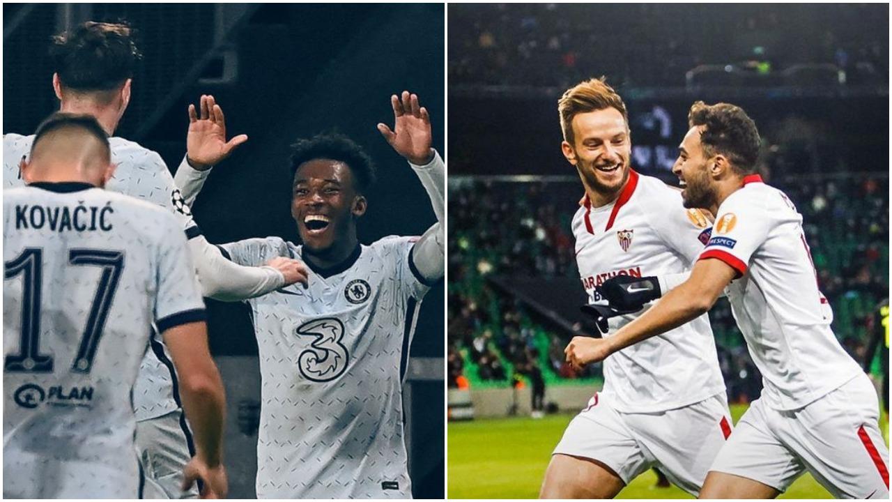 VIDEO/ Fitore identike në Champions League, kualifikohen Chelsea dhe Sevilla