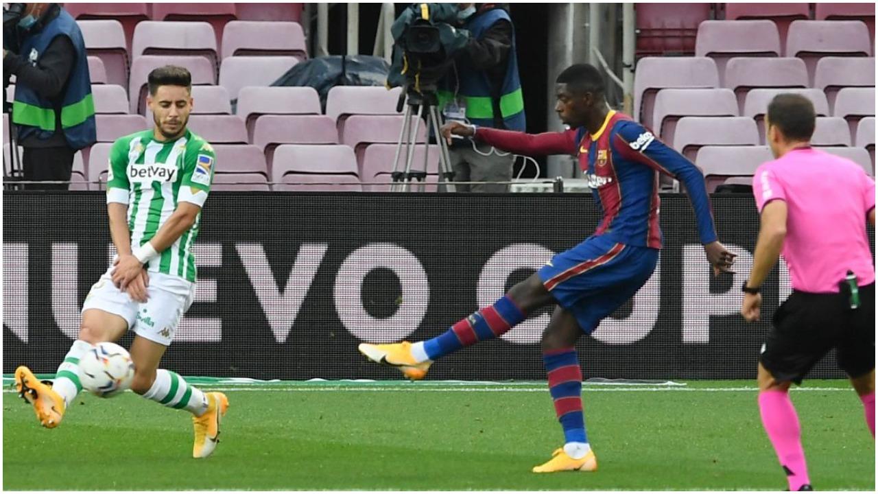 VIDEO/ Goli i parë në La Liga fantastik, Dembele kalon Barcelonën përpara
