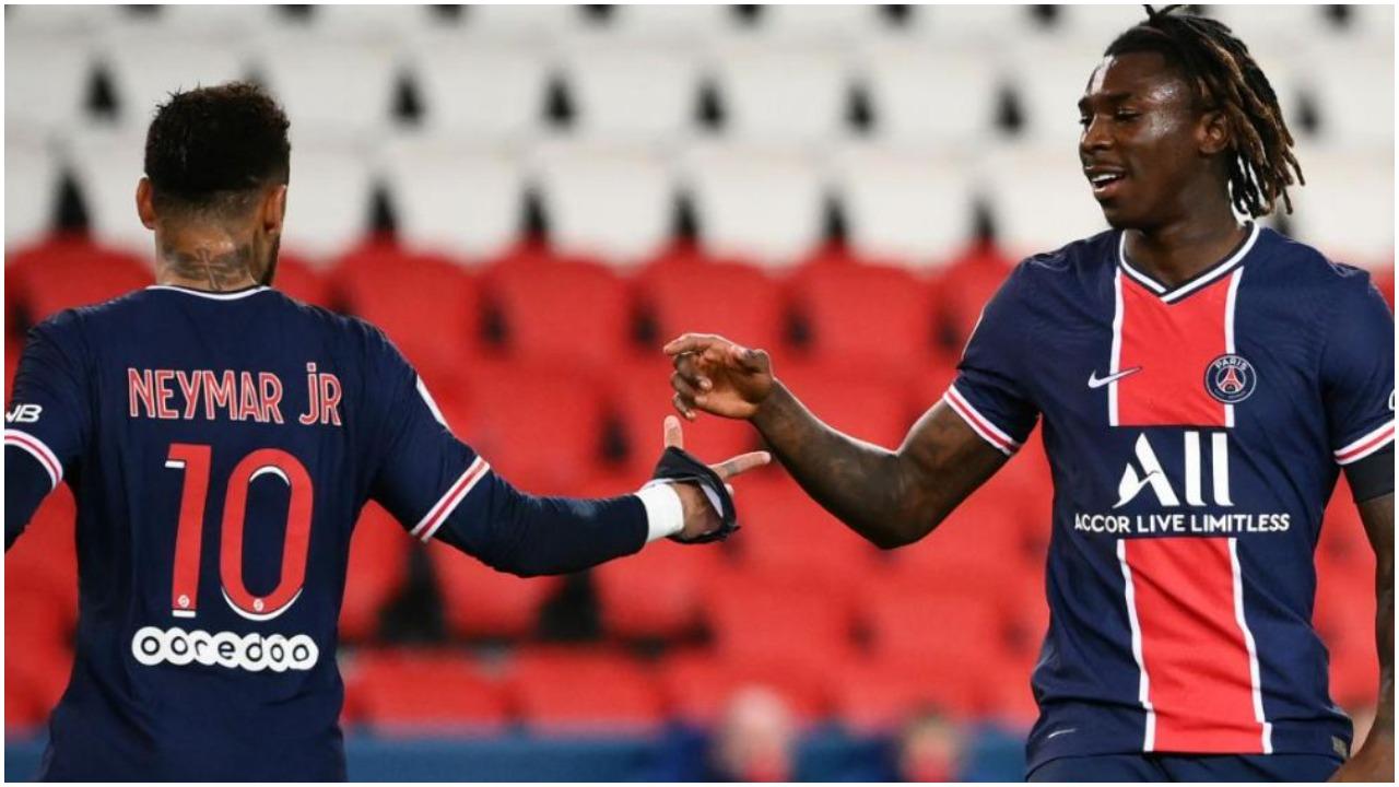VIDEO/ Dy gola për një minutë, Neymar-Moise Kean përmbysin Bordeaux