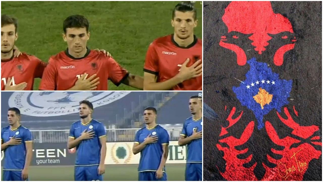 VIDEO/ Kosovë-Shqipëri nis me emocione, himni na bën NJË sërish