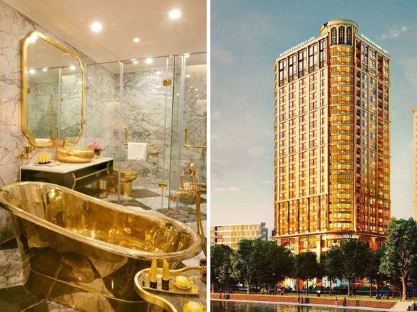 FOTO/ Hoteli në Vietnam me 400 dhoma dhe i gjithi i larë me flori