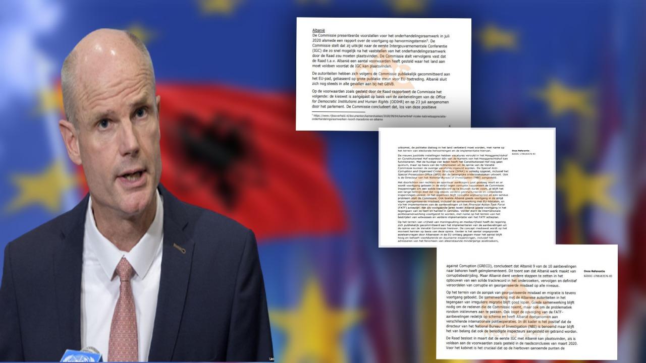 DOKUMENTI/ Holanda bllokon Shqipërinë për negociatat, dritë jeshile për Shkupin